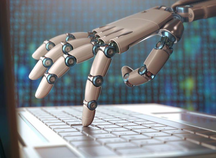 Artificial intelligence through a robotic hand