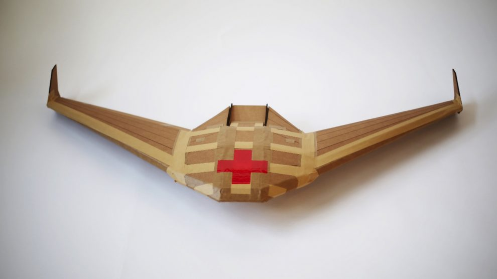 Paper drones can be used in humanitarian efforts.