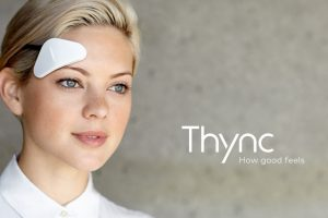 woman wearing Thync for stress