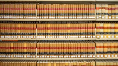 law library with legal books