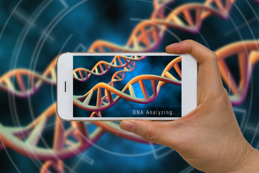 Augmented reality viewing DNA